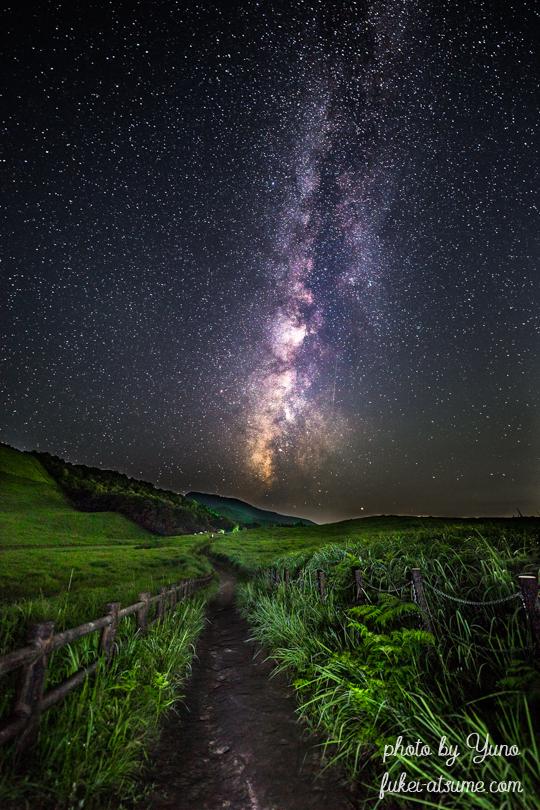 奈良・曽爾高原・星空・星景・天の川・風景・夜景