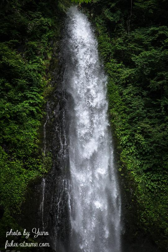 鳥取県鳥取市国府町雨滝・雨滝・日本の滝100選・梅雨・雨の後・轟音・水量多