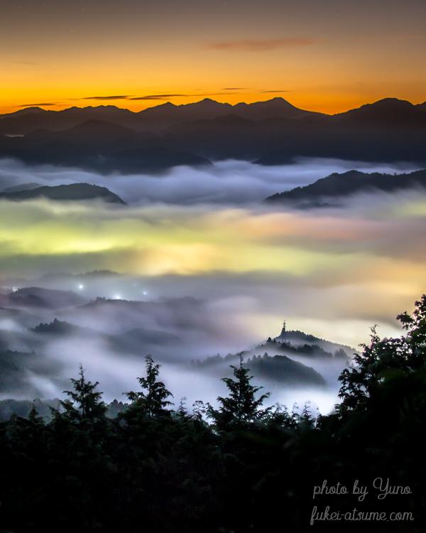 奈良・雲海・カラフル・レインボー・夜明け・朝焼け・夜景