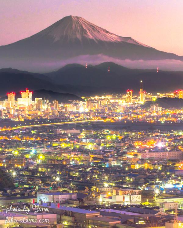 静岡・富士山・夜景・朝焼け・夜明け
