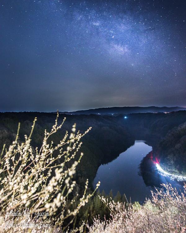 奈良・月ヶ瀬梅渓・月ヶ瀬梅林・梅の花・星景・星空・天の川