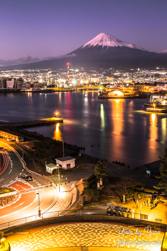 富士山・静岡・田子の浦・夜景・夕景
